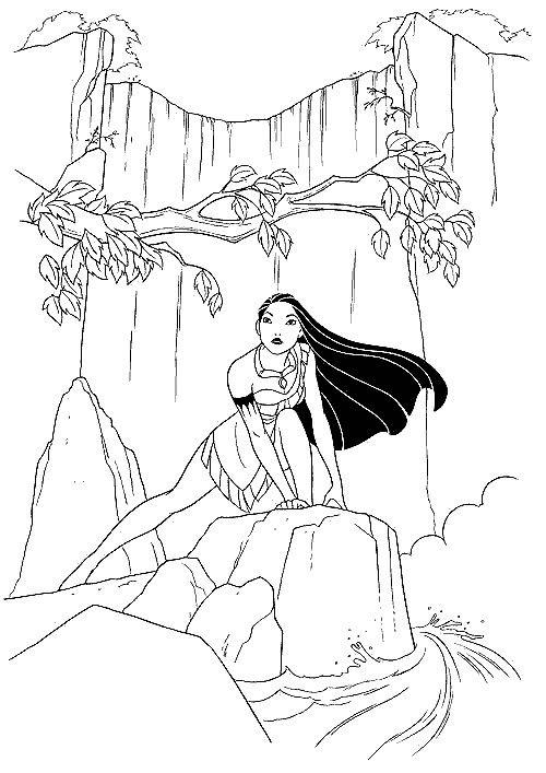 Princess Pocahontas Coloring Pages For Child