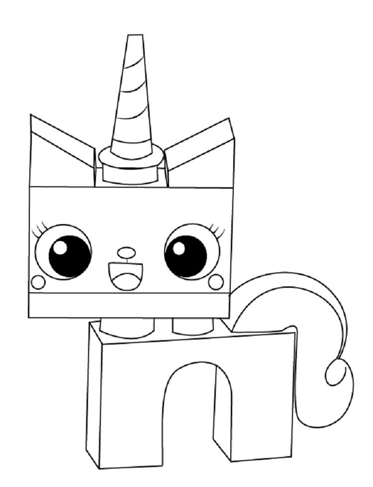 Princess Unikitty Coloring Pages