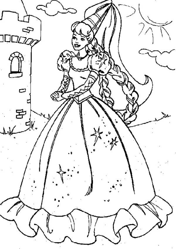 Princesses Birthday Party At The Castle Coloring Pages
