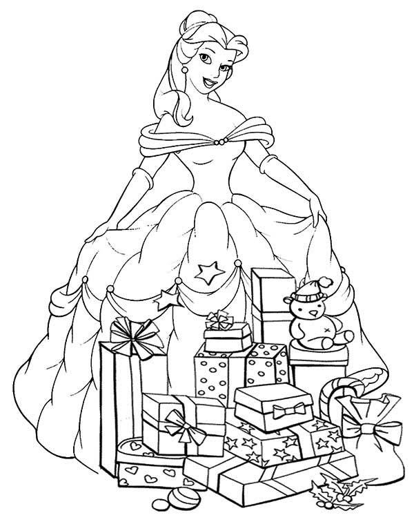 Princesses Birthday Presents Coloring Pages