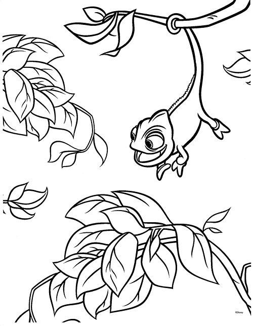 Prinntable Rapunzel And Pascal Coloring Pages