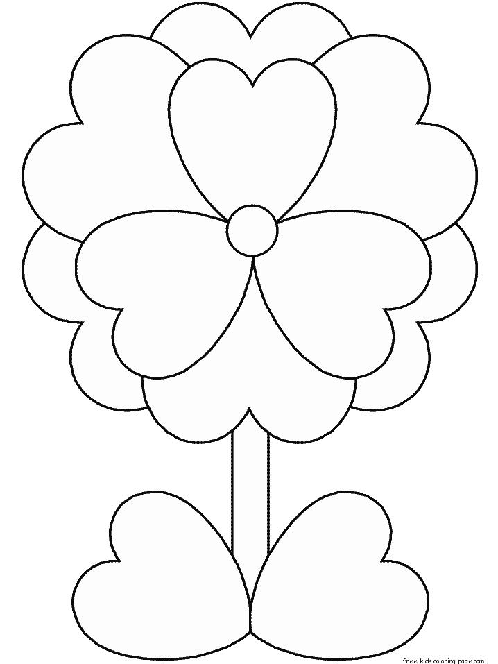 Print Out Valentines Day Flower Coloring Pages