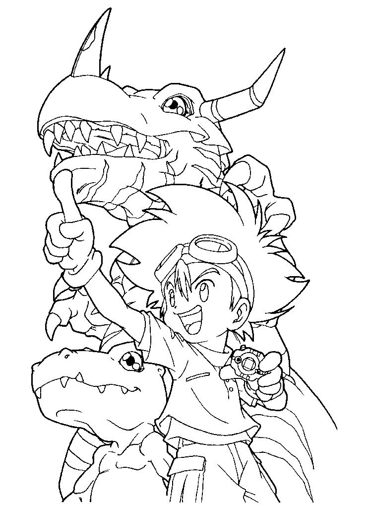 Printable Digimon Coloring Pages