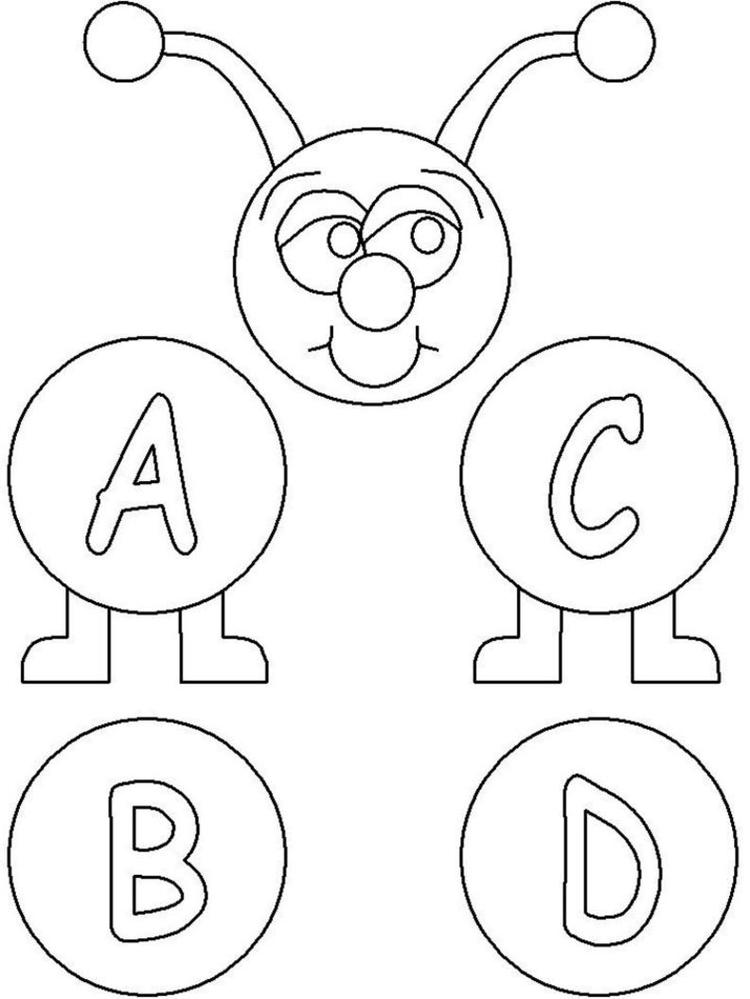 Printable Abc Coloring Pages For Kids