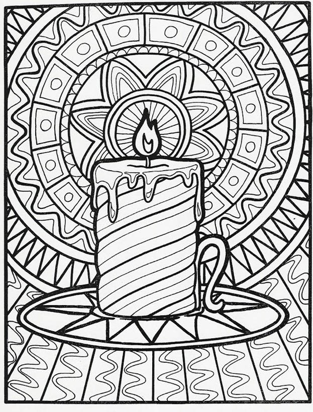 Printable advent wreath coloring page