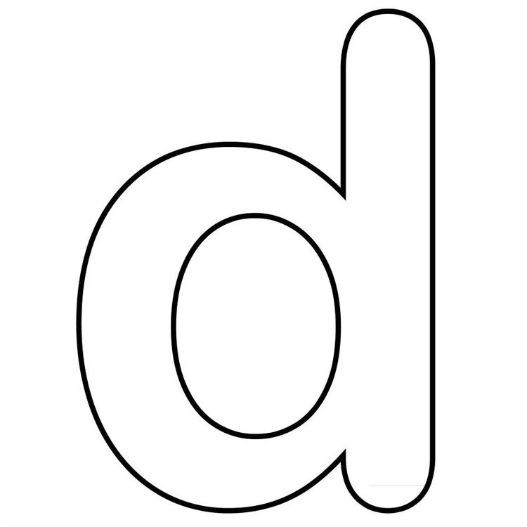 Printable Alphabet Coloring Pages Lowercase D