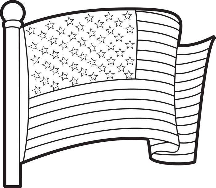 photo relating to Printable American Flag named Printable American Flag Coloring Web pages For Children - Coloring Options