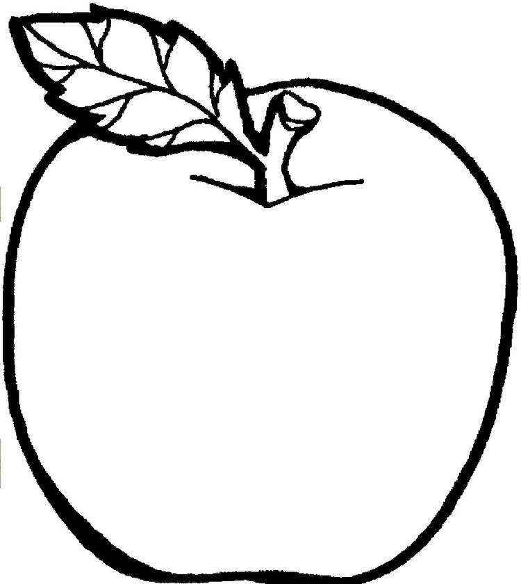 Printable Apple Coloring Pages