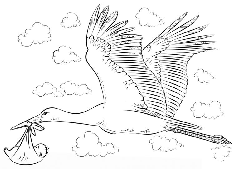 Printable Baby Shower Coloring Page