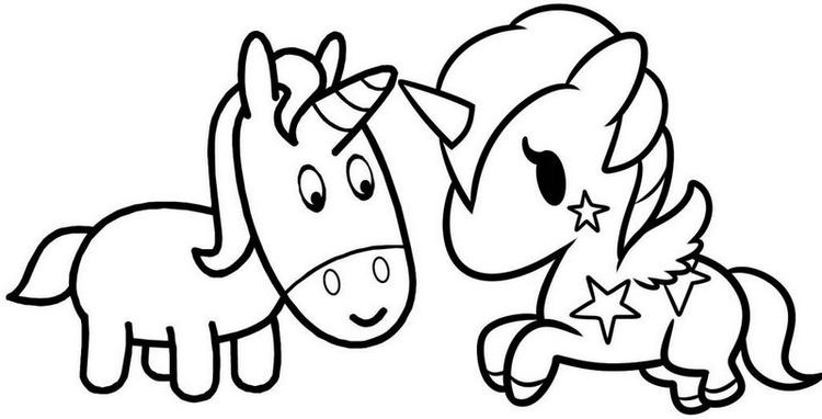 4500 Baby Unicorn Coloring Pages To Print Pictures