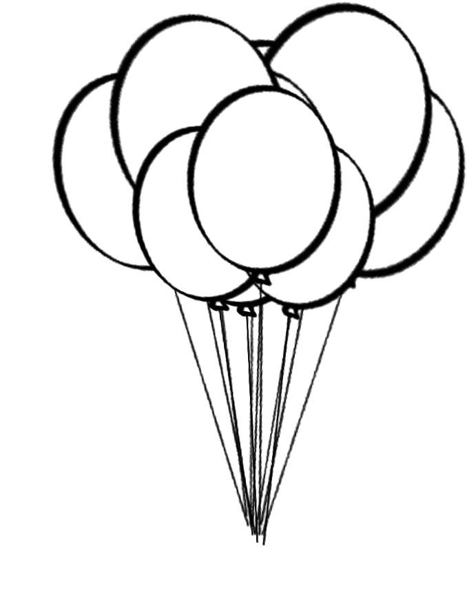 Printable Balloon Coloring Pages