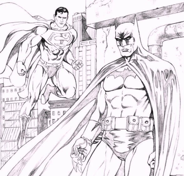 Printable Batman Vs Superman Coloring Pages