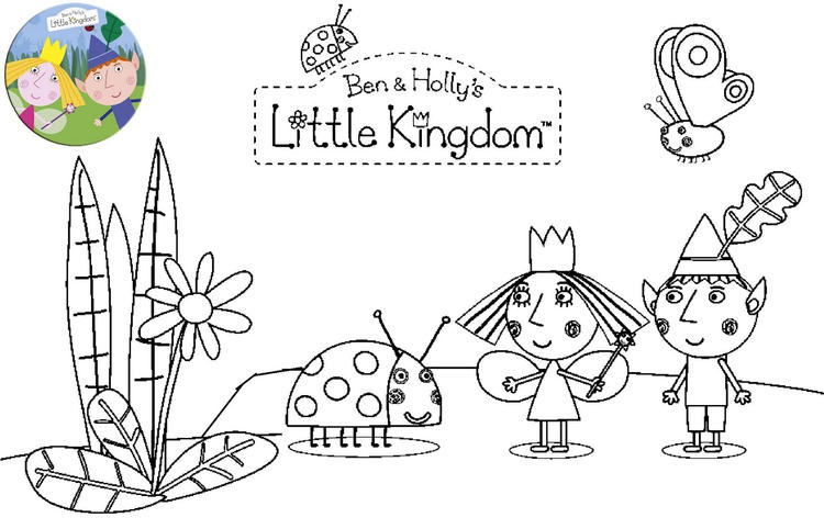 Printable Ben And Holly Little Kingdom Coloring Page
