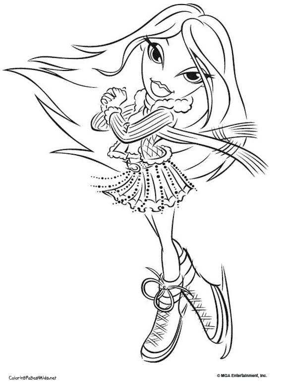 Printable Bratz Cheerleading Coloring Pages