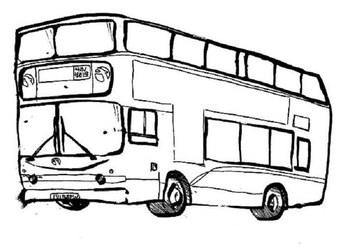 Printable Bus Coloring Pages