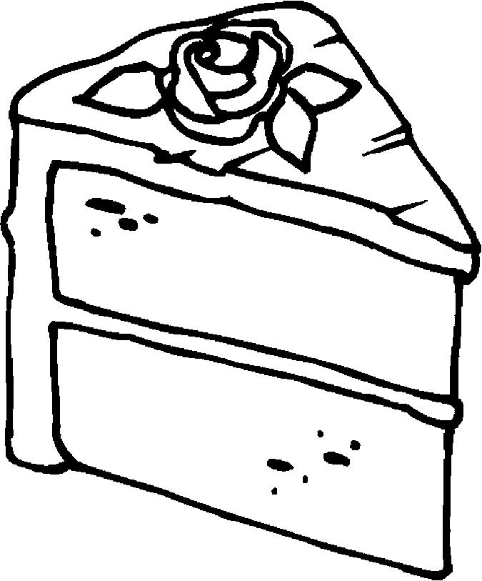 Printable Cake Coloring Pages 1