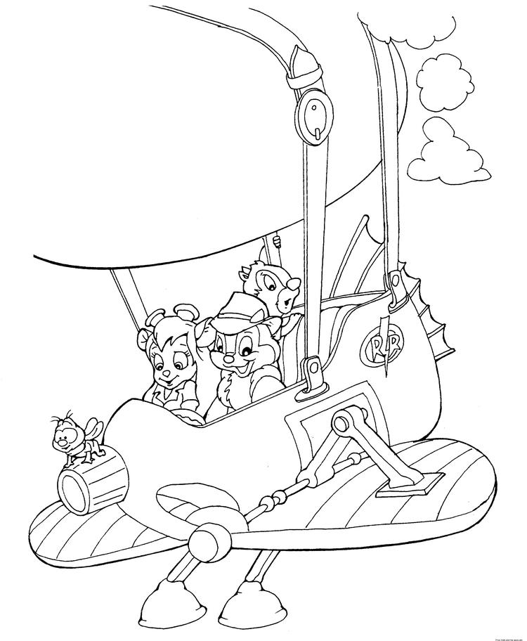 Printable Cartoons High In The Sky Coloring Page