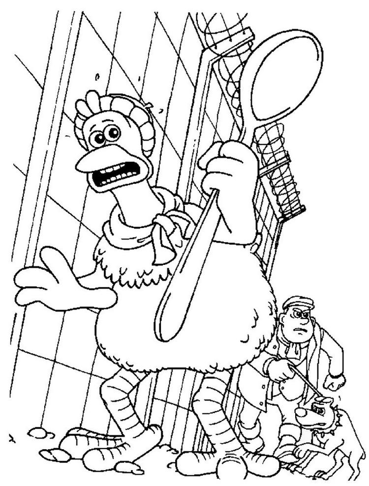 Printable Chicken Run Coloring Pages