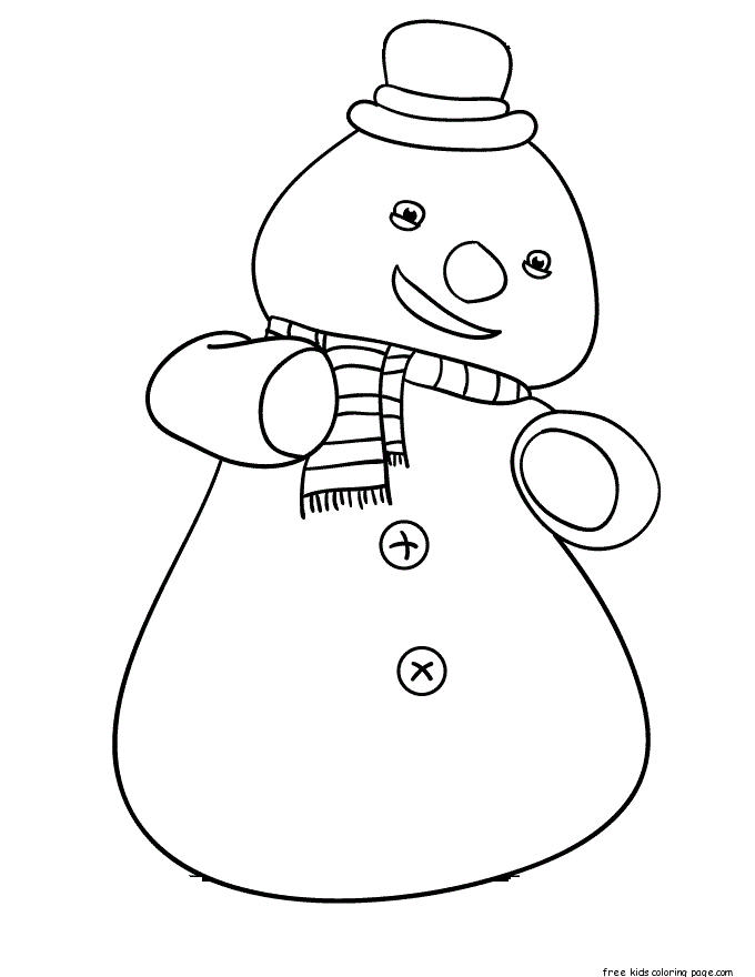 Printable Chilly The Snowman Doc Mcstuffins Coloring Pages