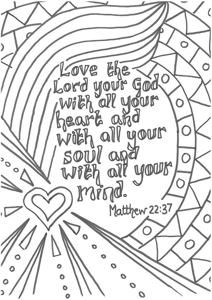Printable Christian Coloring Pages With Verses - Coloring Ideas