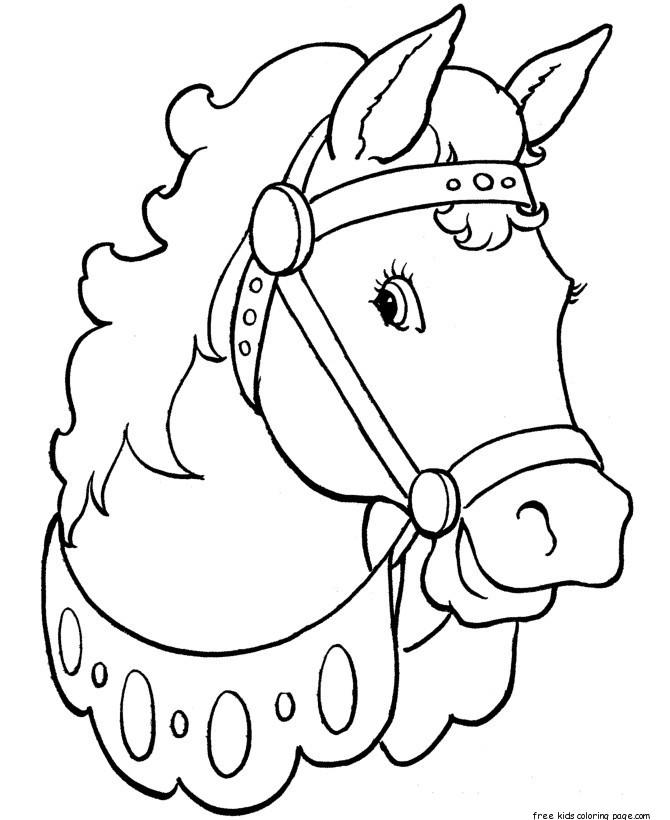 Printable Coloring Pages Animal Beautiful Horses