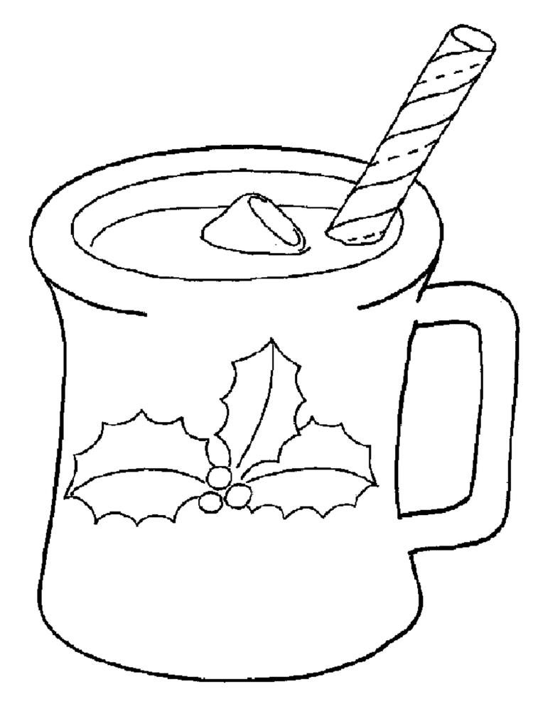 Printable Coloring Pages Christmas Drink
