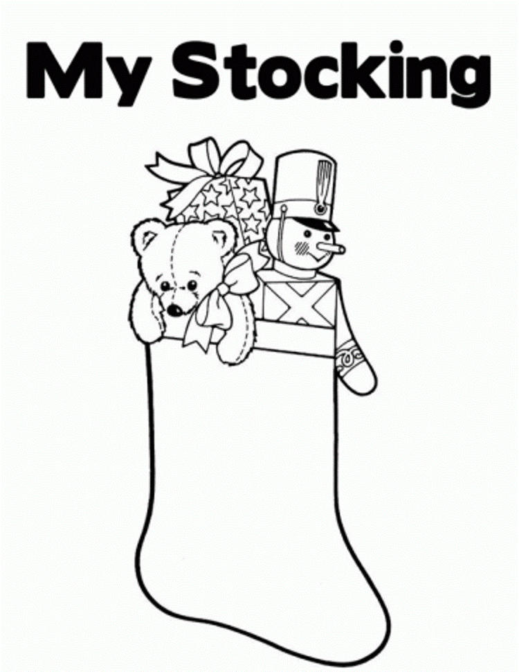 Printable Coloring Pages Christmas My Stocking