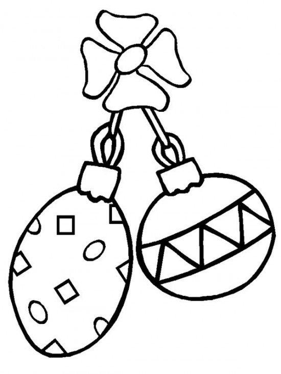 Printable Coloring Pages Christmas Ornament For Kids