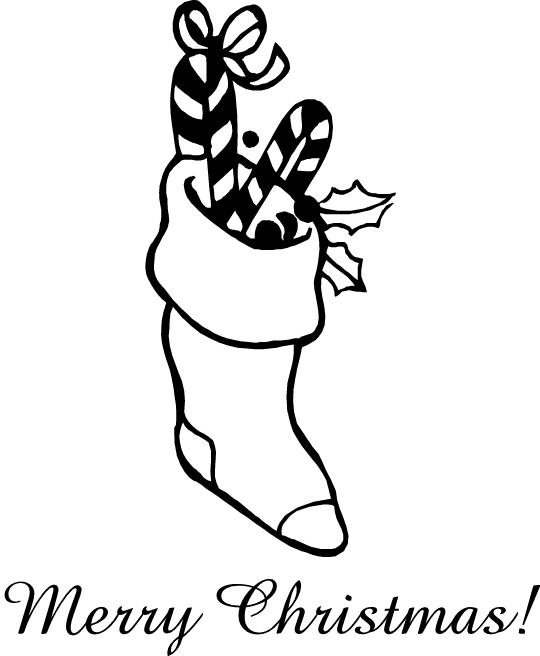 Printable Coloring Pages Christmas Stockung Merry Christmas