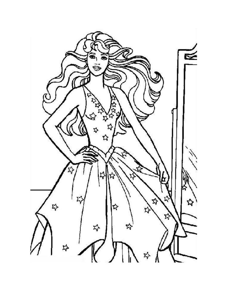 Printable Coloring Pages Disney Princess 1