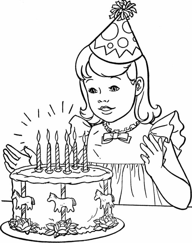 Printable Coloring Pages For Girls Birthday