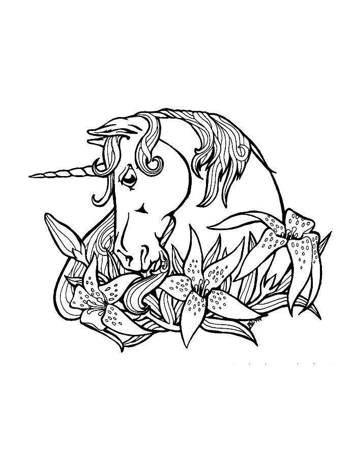 Printable Coloring Pages For Girls Unicorn