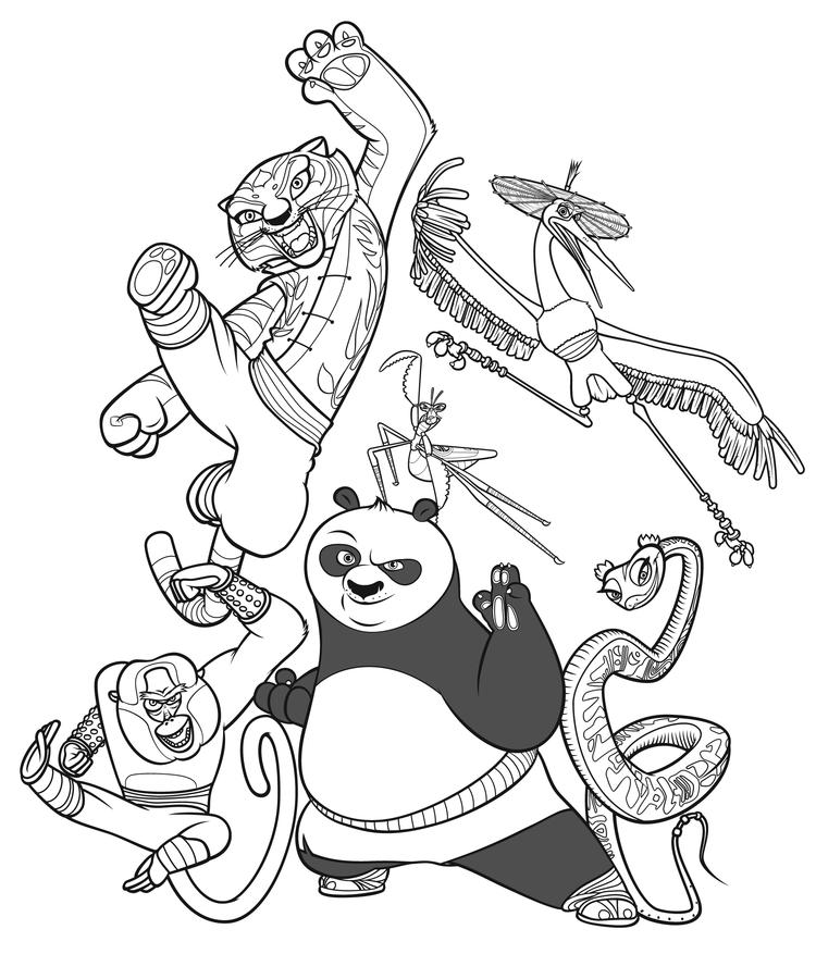Printable Coloring Pages For Kids Kung Fu Panda