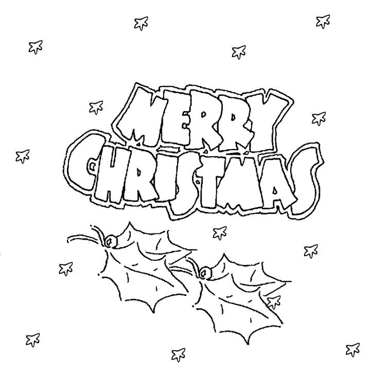 Printable Coloring Pages For Merry Christmas