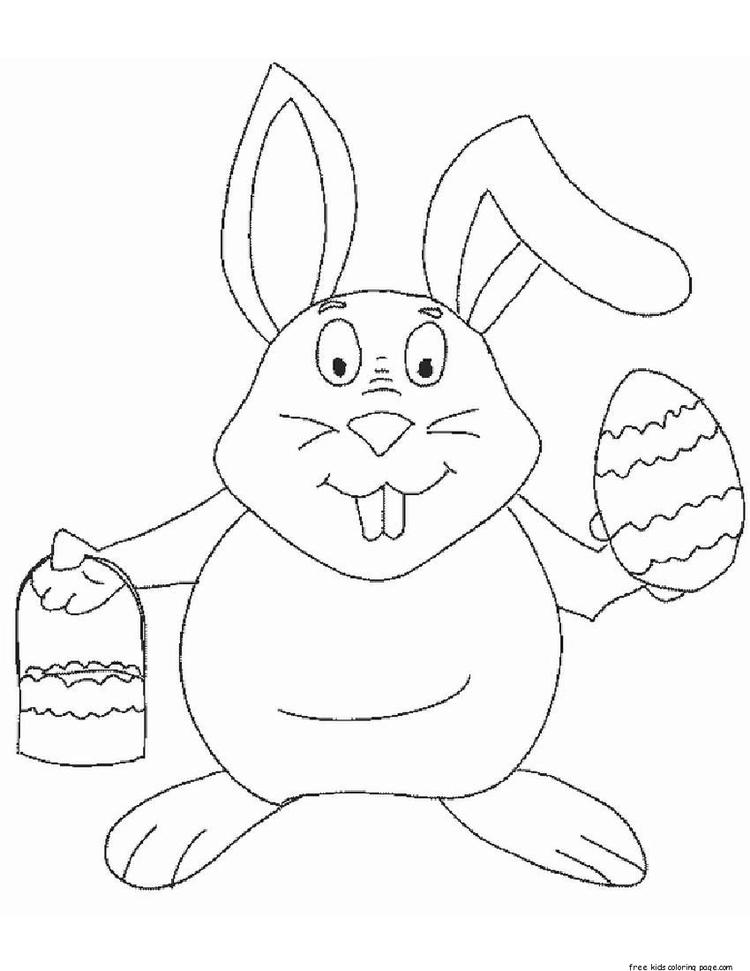 Printable Coloring Pictures Of Easter Egg And Bunny