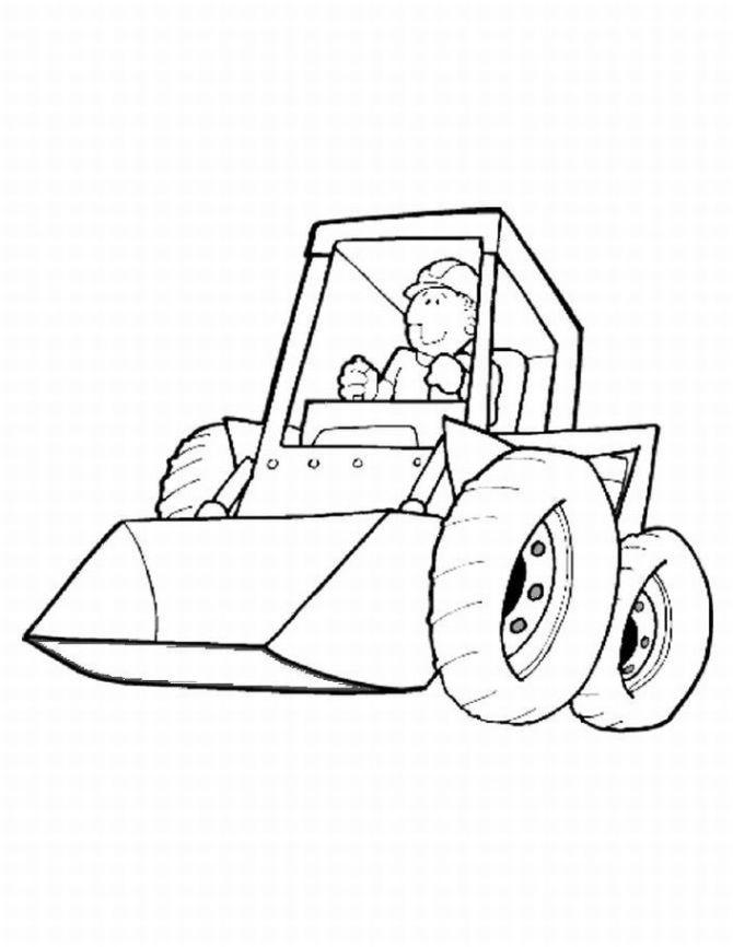 Printable Construction Coloring Pages For Kids