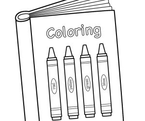 Printable crayon coloring pages