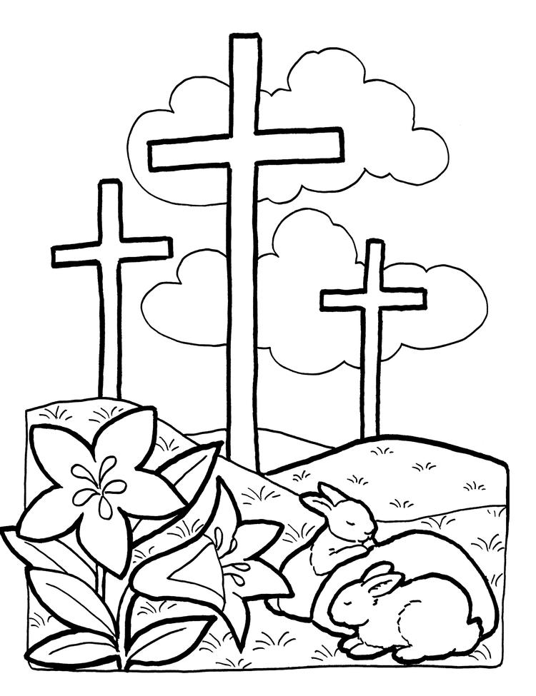Printable Cross Coloring Pages For Kids