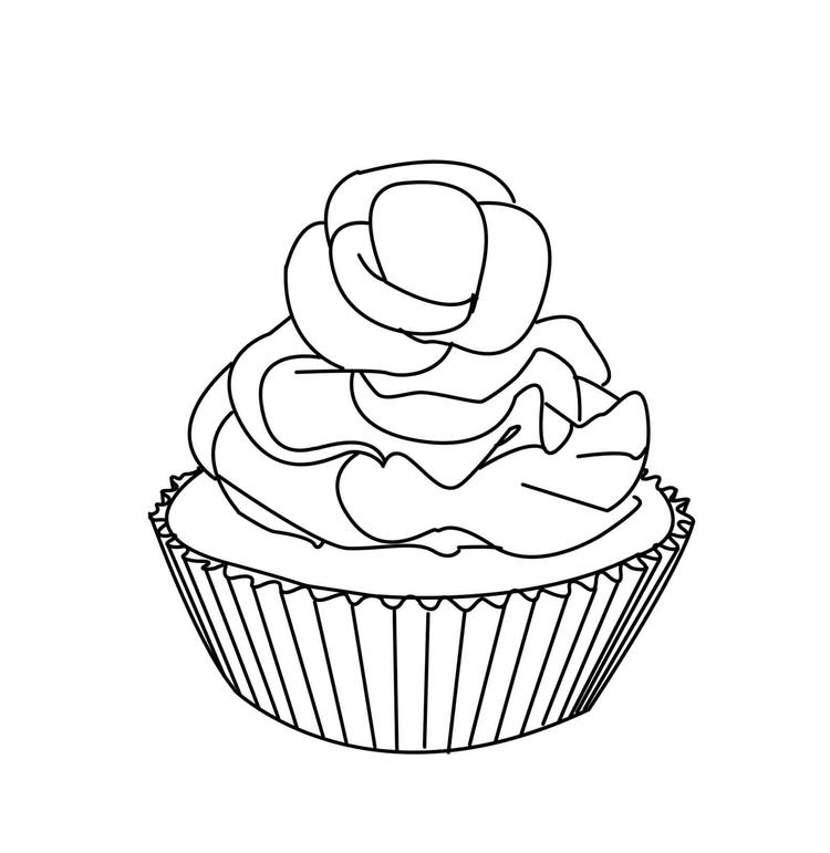 Printable Cupcake Coloring Pages For Kids