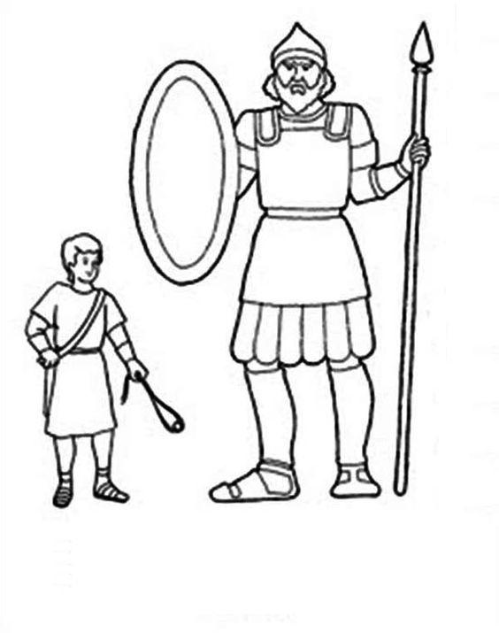 Printable David And Goliath Coloring Pages For Kids
