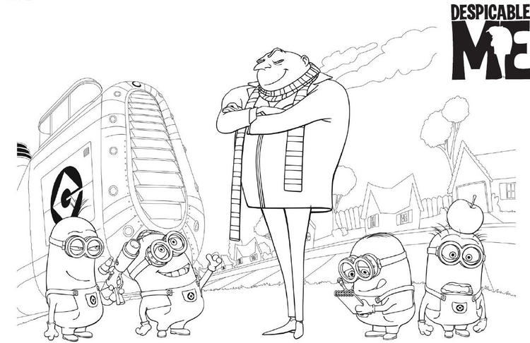 Printable Despicable Me Coloring Pages