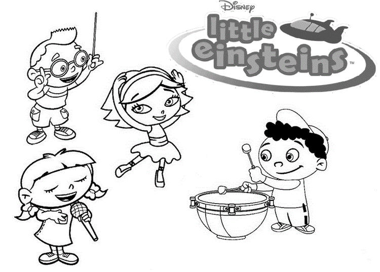 Printable Disney Little Einsteins Musical Coloring Pages