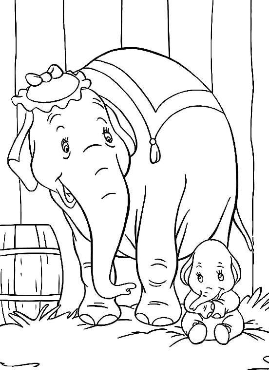 Printable Dumbo Coloring Pages