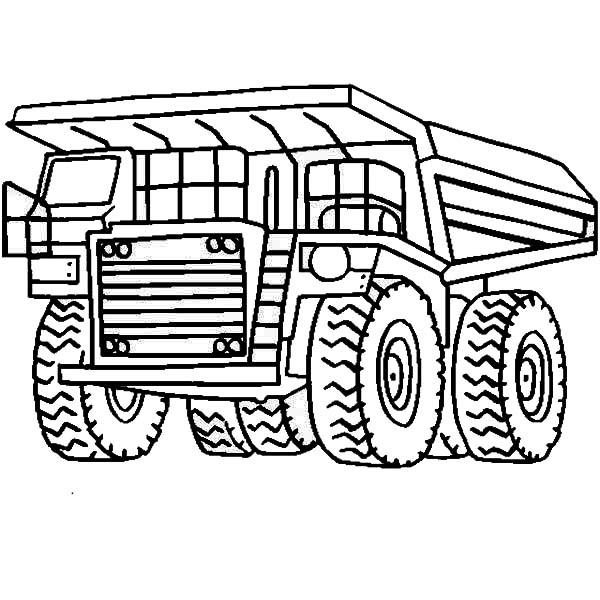 Printable Dump Truck Coloring Pages