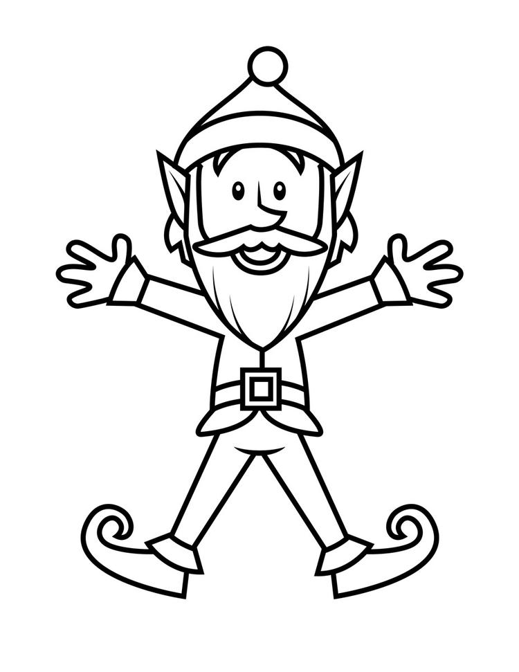 Printable Elf Coloring Pages
