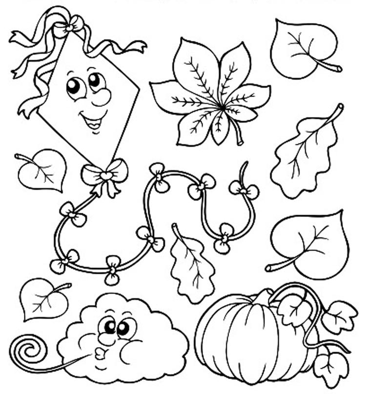 Printable Fall Toddler Coloring Pages 1