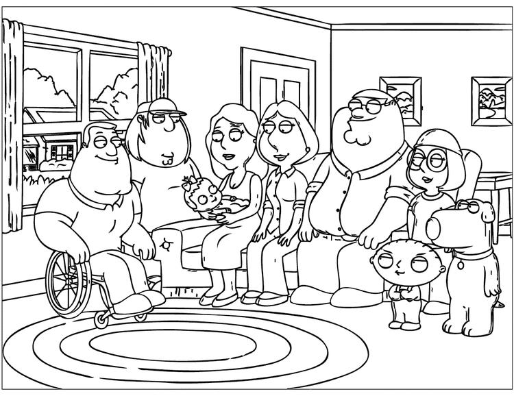 Printable Family Guy Coloring Pages - Coloring Ideas