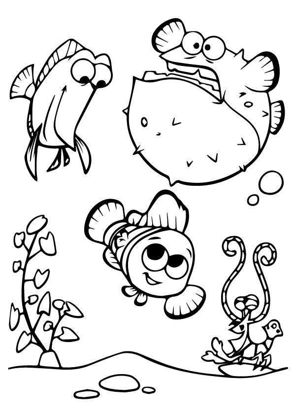 Printable Finding Nemo Coloring Pages For Kids
