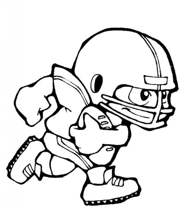 Printable Football Player Coloring Pages For Kids