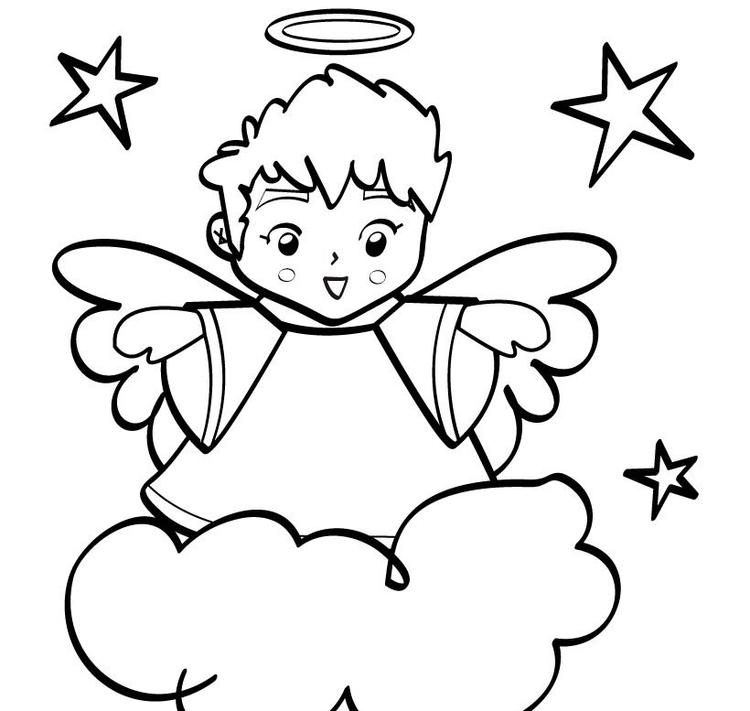 Printable Free Coloring Pages For Christmas Angel